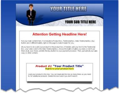 Product picture 5 PLR Minisite Templates [TB806]